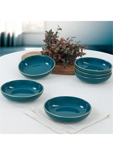 Keramika Petrol Mavi Halka Çerezlik/Sosluk 13 Cm 6 Adet Renkli